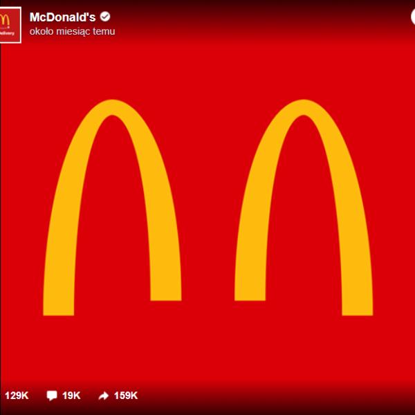 rozłączone łuki w logo mcdonalds);
